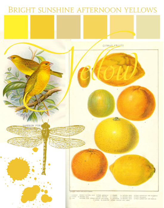 SEcret Diary Designs summer colours-mellow yellow