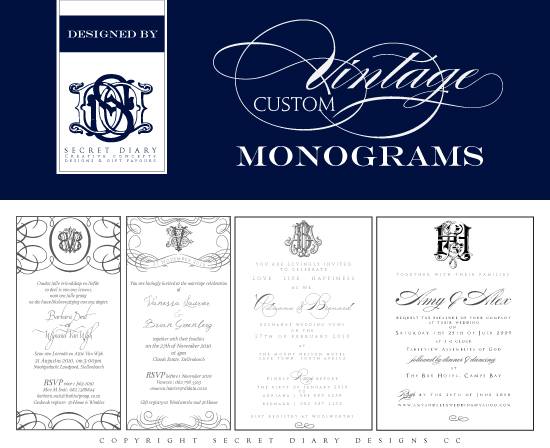 Custom-vintage-monograms-By-Secret-Diary-Designs