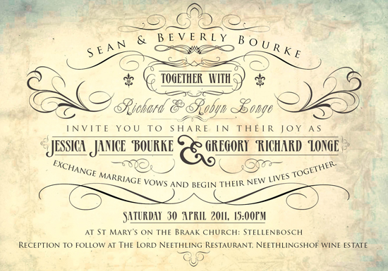 Wedding Invitations Wedding Stationery South Africa