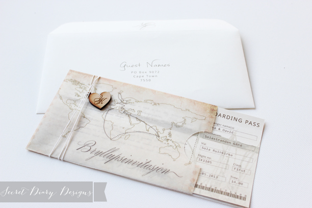 Beautiful Boarding pass invitations