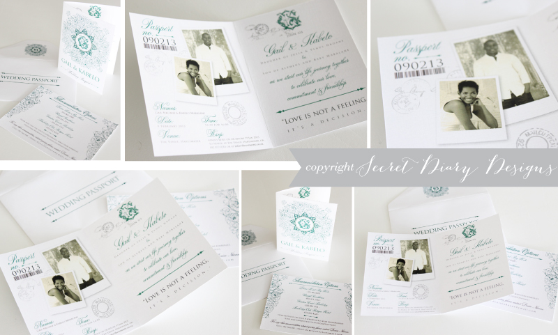 Wedding Invitations Wedding Stationery South Africa Secret Diary ...