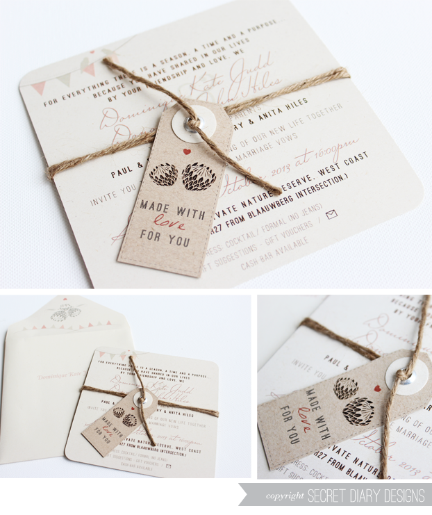 Quirky Wedding Invitation: Wedding Invitations