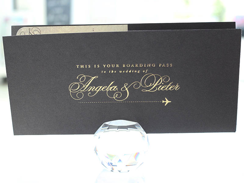 K'Mich Weddings - wedding planning - Board Pass Invitation - Secret Diary