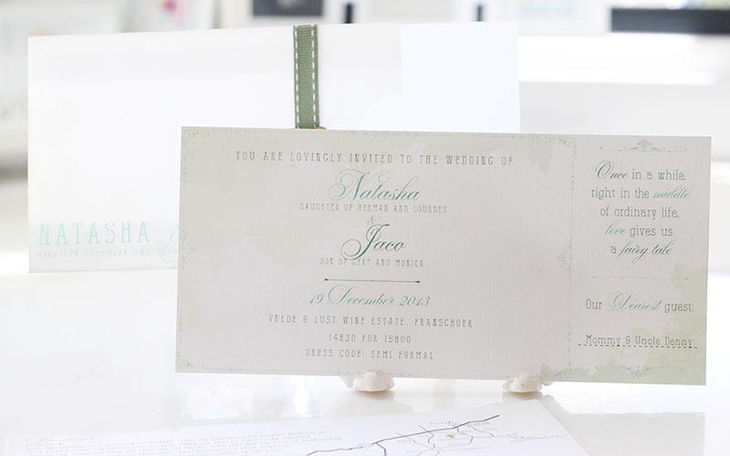 Wedding invitations wedding stationery south africa secret vintage invitation natasha and jaco stopboris Image collections