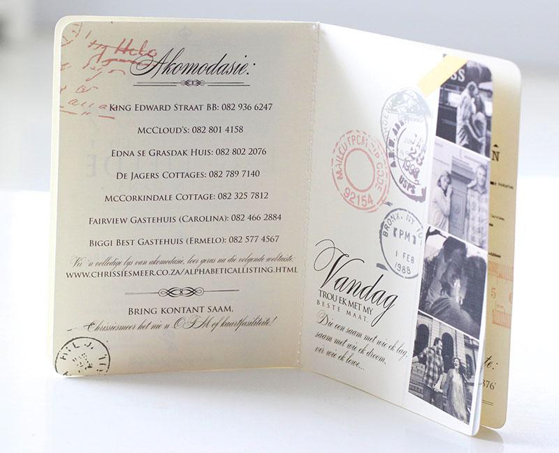 K'Mich Weddings - wedding planning - Passport Invitation - Secret Diary