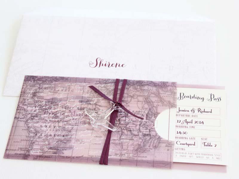 K'Mich Weddings - wedding planning - Boarding Invitation Pass - Secret Diary