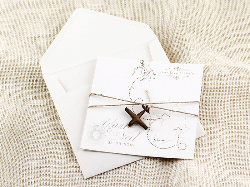Our Love Travels Invitation