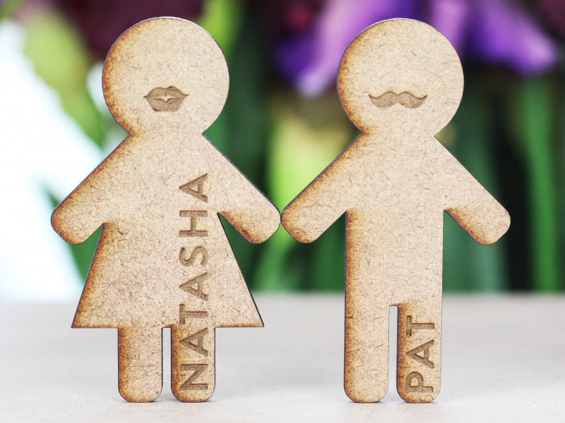 Wooden Engraved Place Cards
