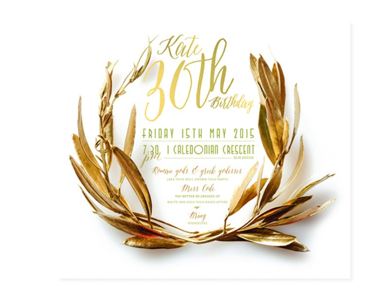 wreath digital invite