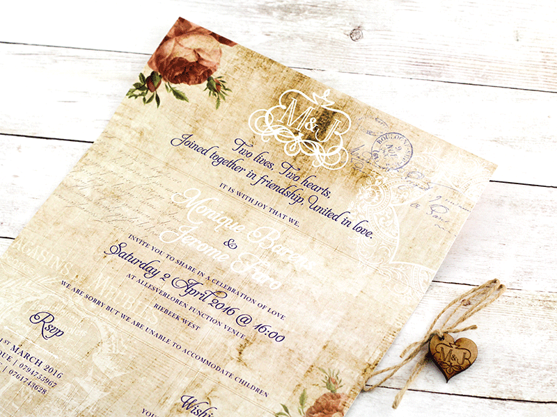 Begonia Invitation