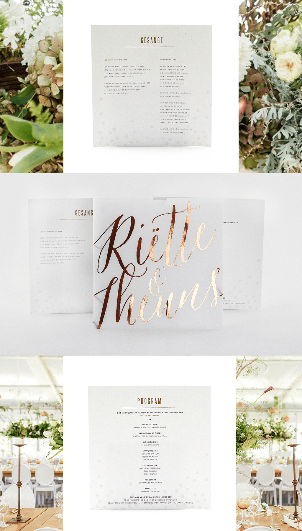 Wedding invitations wedding stationery south africa secret the main focus of todays post and our favourite item has to be the copper foiled semi transparent pocket sleeve which contains the program and lyrics for stopboris Images