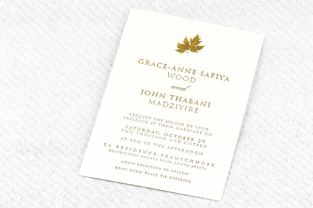 'Tis the Season | www.secretdiary.co.za | Golden Leaf Invitation