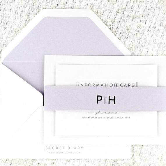 Priscilla Pearl Invitation - Lilac