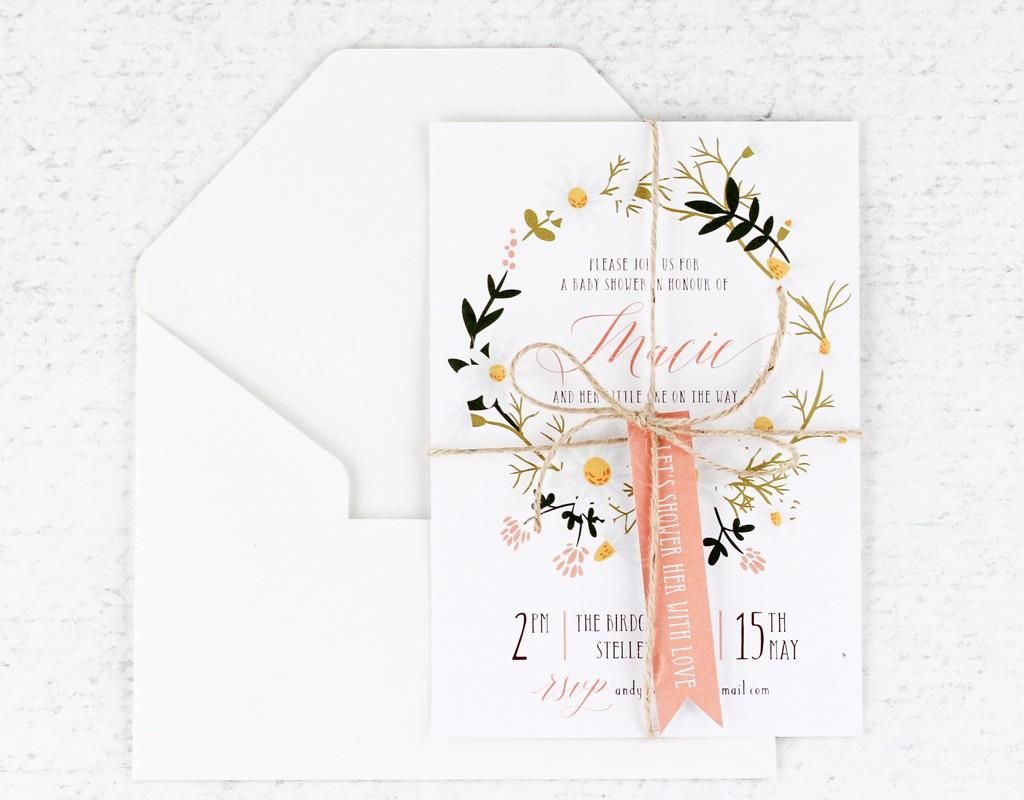 Baby Shower | www.secretdiary.co.za | sweet-shower-wreath-invitation