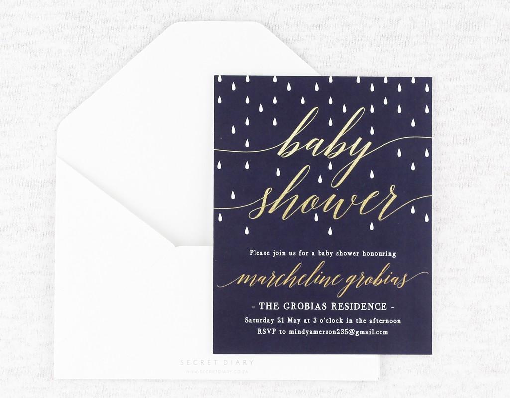 Baby Shower | www.secretdiary.co.za | glitter-showers-invitation-navy