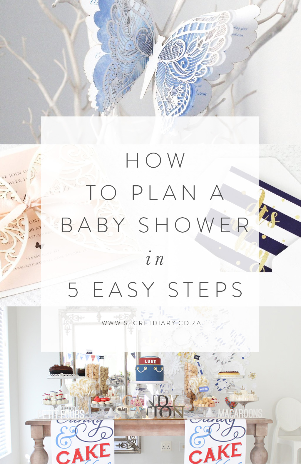 Secret Diary | Baby Shower in 5 Steps | www.secretdiary.co.za