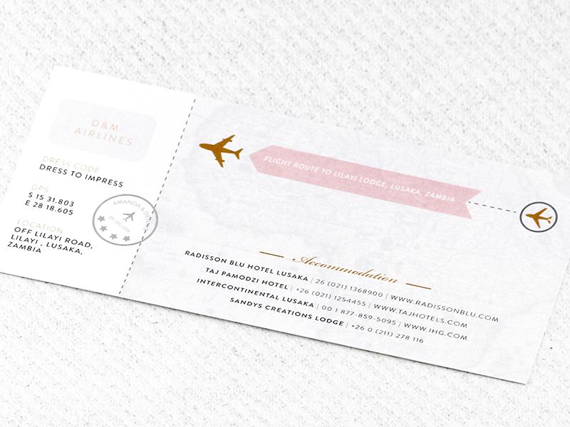 Wedding invitations wedding stationery south africa secret coral travels invitation stopboris Images