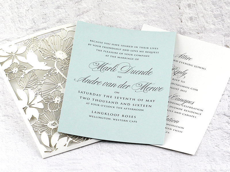 Isla Pocket Invitation - Mint