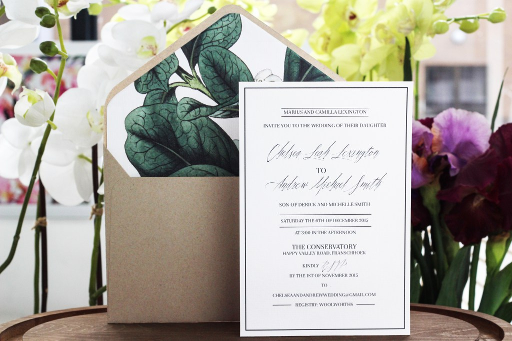 Wedding invitations wedding stationery south africa secret our e store pick the atrium suite stopboris Images