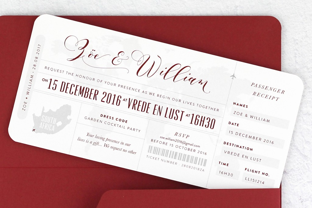 www.secretdiary.co.za | Boarding Pass Invitation - Our Love Travels | SDI-6640