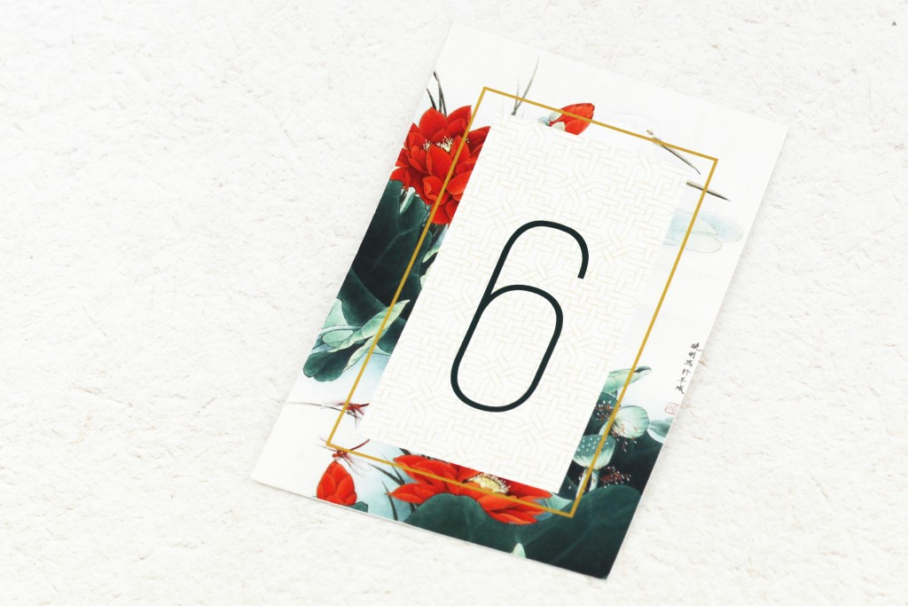 Origami Table Number | SDI-6882 | Secret Diary