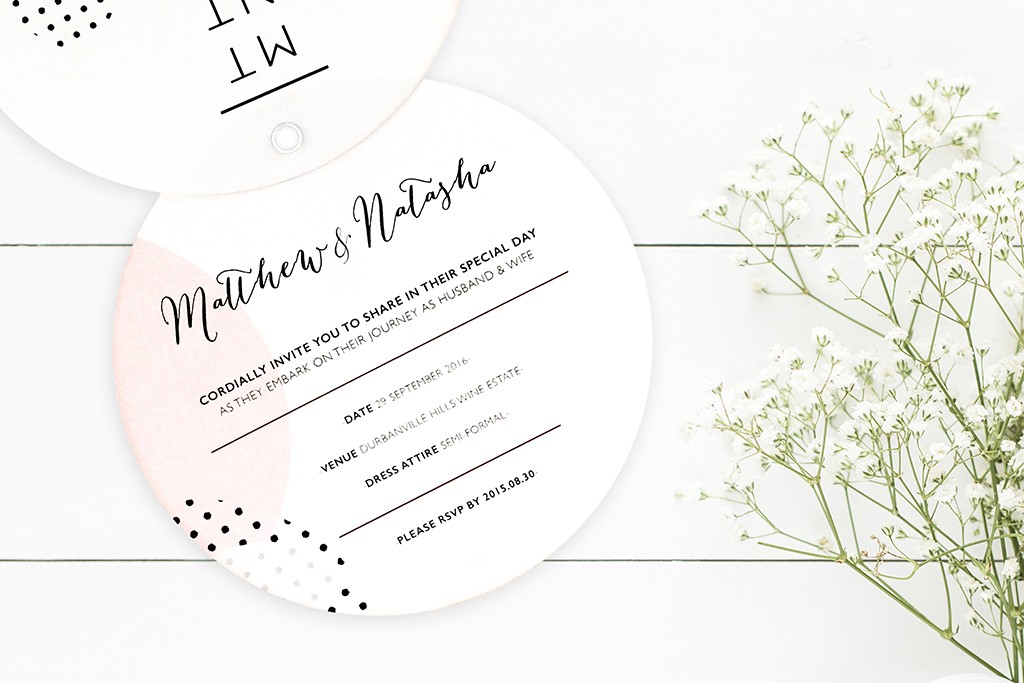 Our E-store Pick | Soleil Invitation | www.secretdiary.co.za