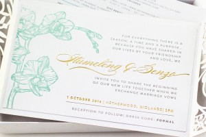 Senzo Orchid - Luxury Boxed Invitation | www.secretdiary.co.za