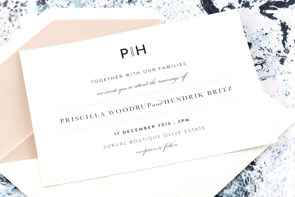 SDI-6500 Priscilla invitation - Blush Pink | www.secretdiary.co.za