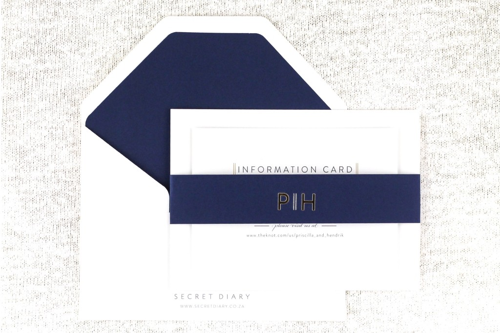 SDI-6505 Priscilla Invitations Navy | www.secretdiary.co.za