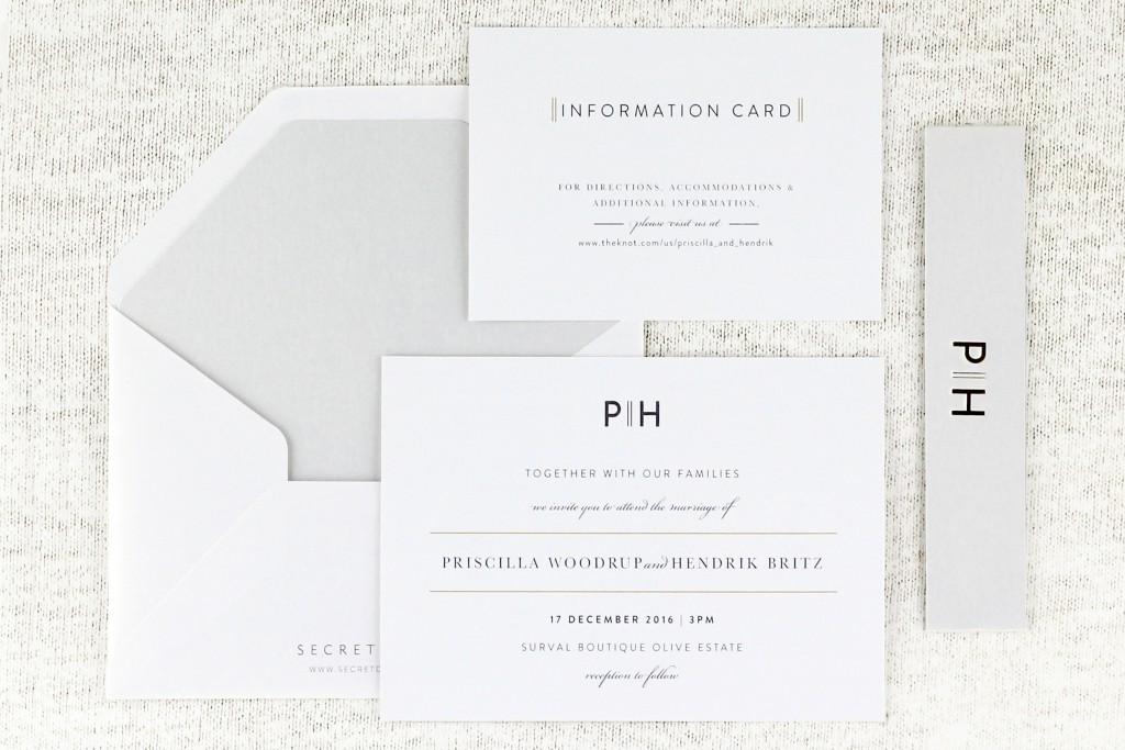 SDI-6507 Priscilla Invitations Opal | www.secretdiary.co.za
