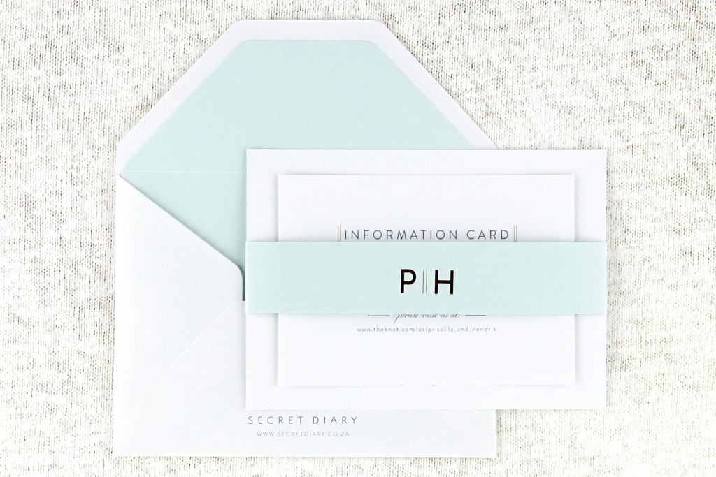 SDI-6511 Priscilla Invitations Aqua | www.secretdiary.co.za