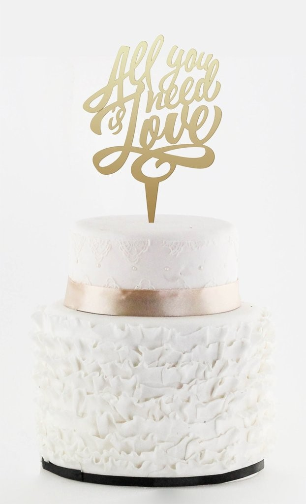 All you need is love Cake topper | www.secretdiary.co.za