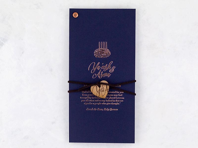 K'Mich Weddings - wedding planning - Tanzanite Invitation - Secret Diary