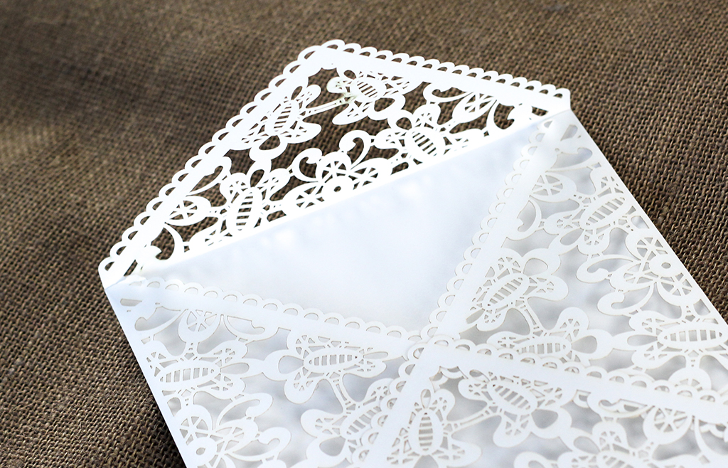 Lace Envelope Square - White | www.secretdiary.co.za