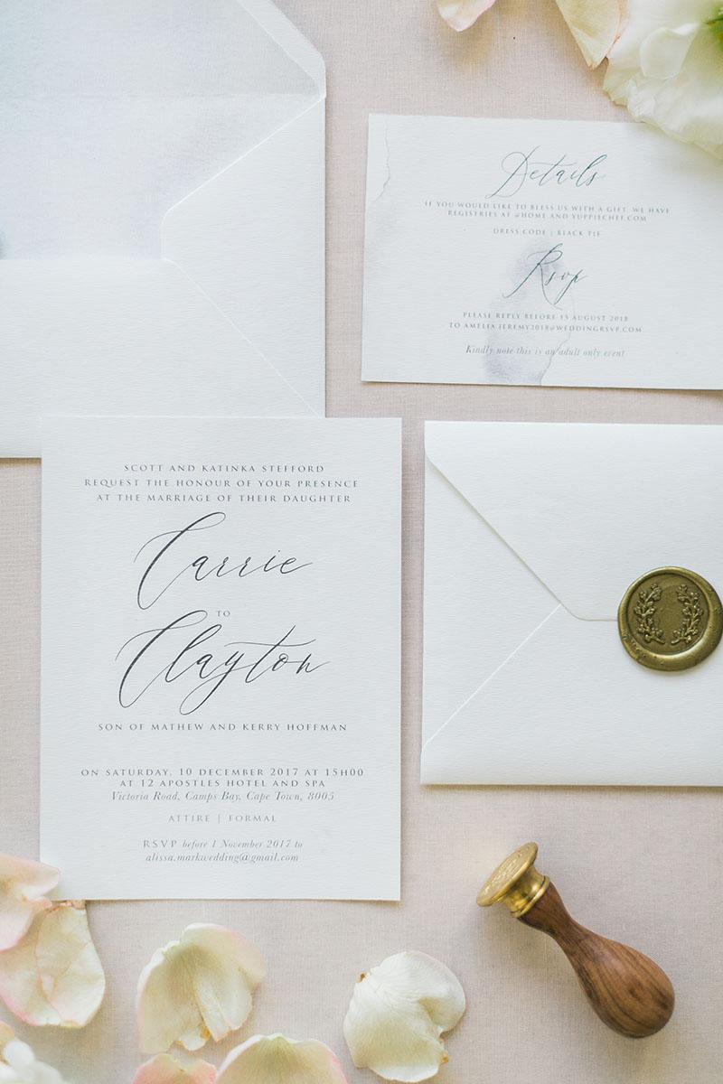 Wedding Invitations | Wedding Stationery | South Africa | Secret ...