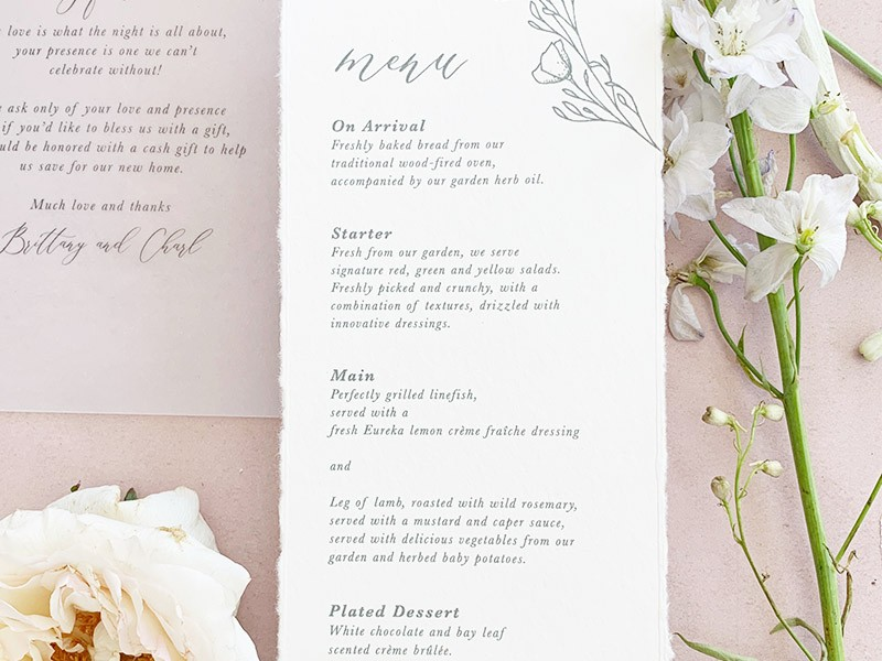 Dreamy-Menu-Card