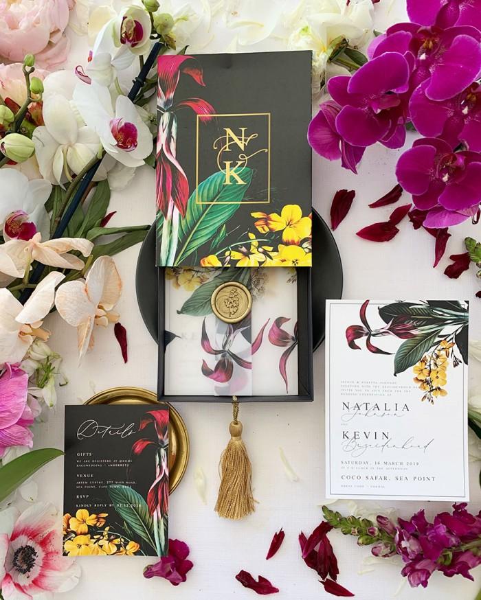 Vineflowers- Boxed-invitation
