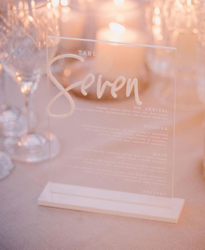 Frida and Christian- Menu-Table number