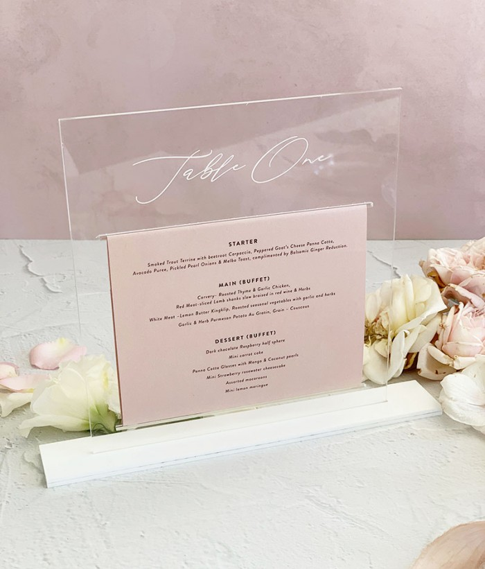 Acrylic-clear-and-blush-table-menu