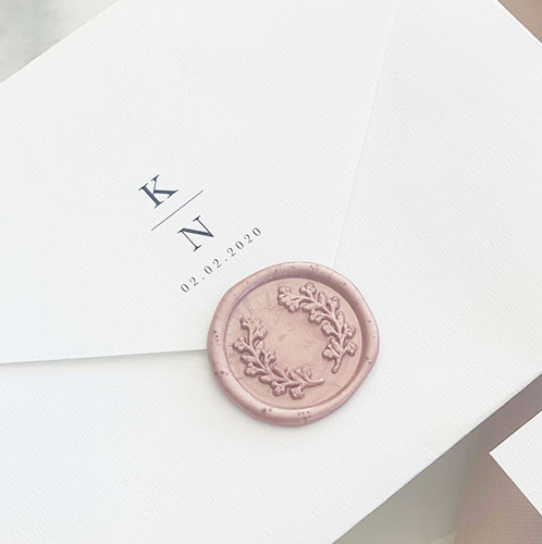 Rose-gold-wreath-Wax-seal