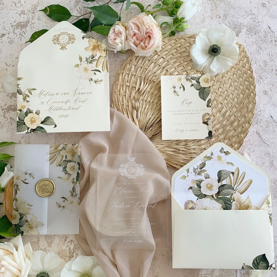 Magnolia-Sunshine-acrylic-invitation