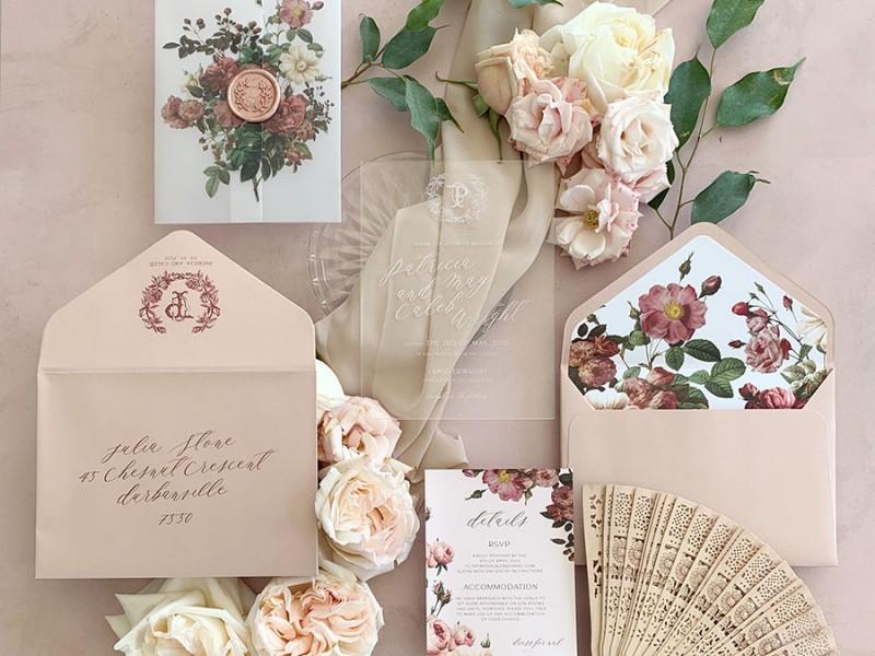 Renaissance-Rose-acrylic-invitation