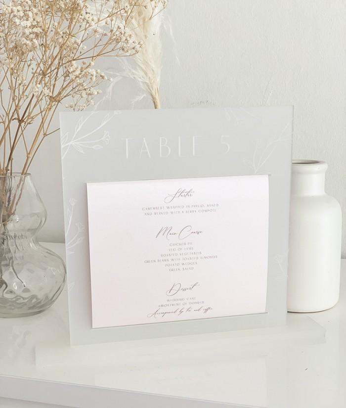 Acrylic-layered-paper-menu