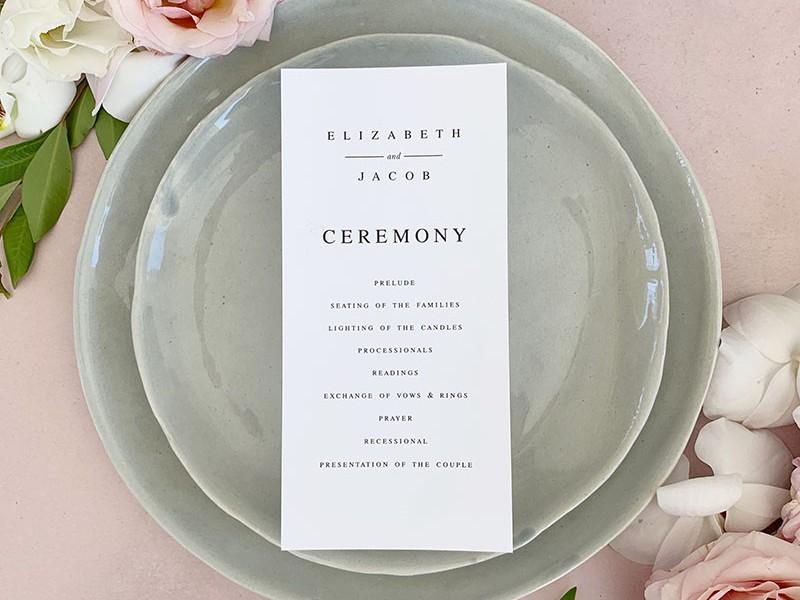 Lark-Ceremony-program-Card