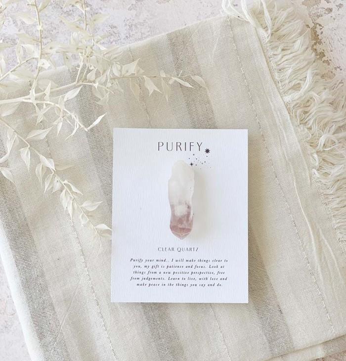 Crystal quartz gift